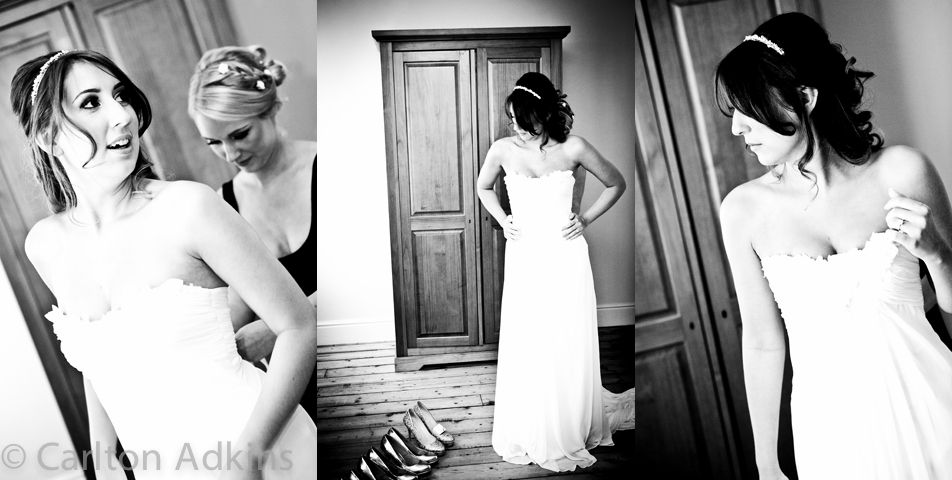 photography of the wedding dress at the brides house in macclesfield cheshire