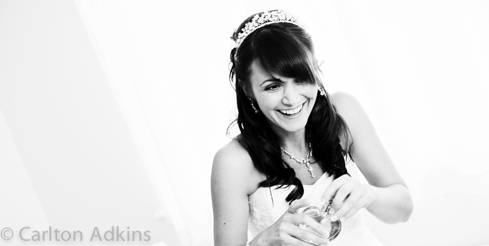 reportage wedding photography of the bride to be in cheshire