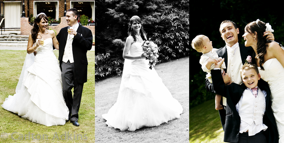 wedding photography of the bride and groom at the deanwater hotel wilmslow cheshire