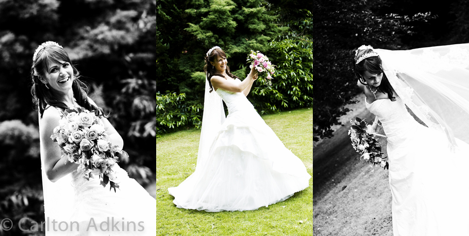 photography of the bride at the deanwater hotel wilmslow