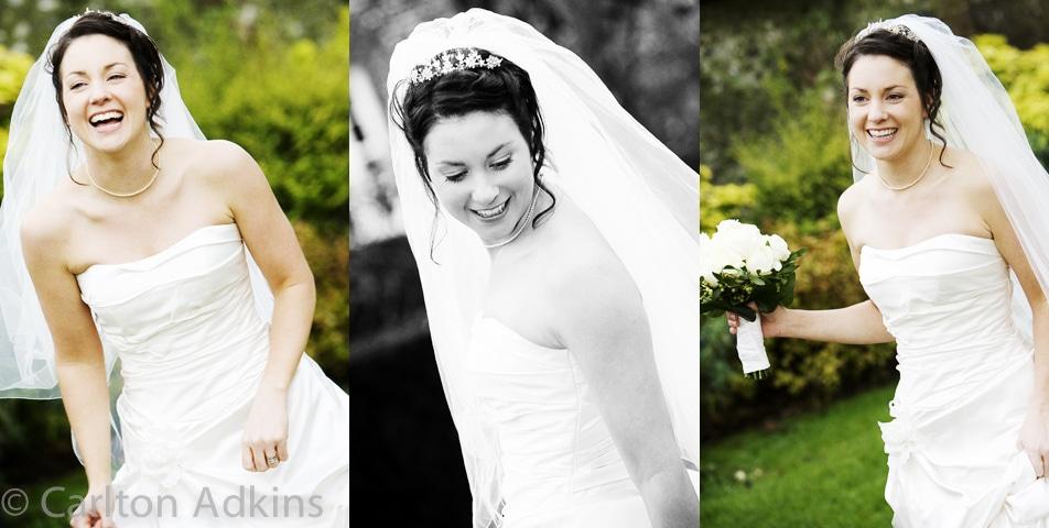 informal wedding photography of the bride