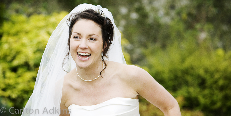 photography of the bride after the wedding ceremony