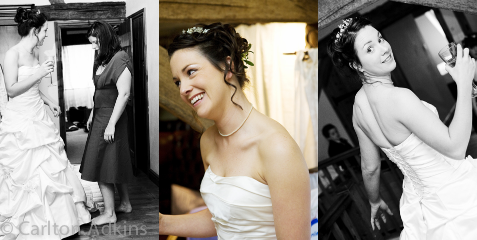 photography of the bride before the wedding ceremony