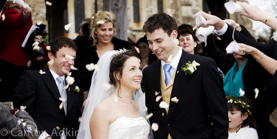 photography of the confetti after the wedding ceremony