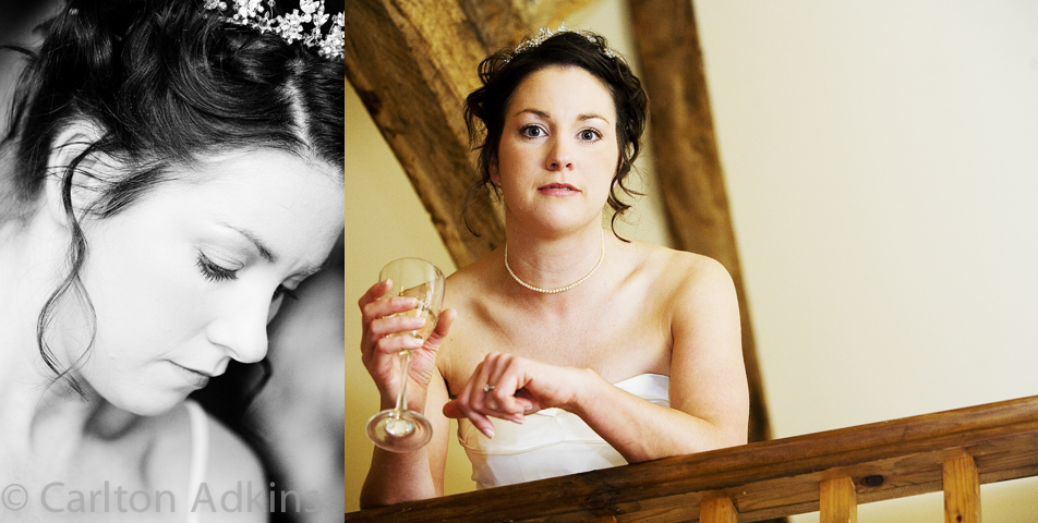 relaxed and informal wedding photography of the bride
