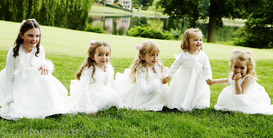 the bridesmaids in the grounds of the mere golf and country club knutsford cheshire