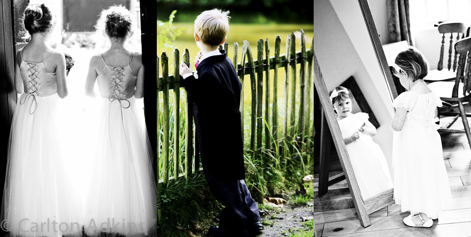 wedding photography of the bridesmaid and pageboys in Cheshire and staffordshire