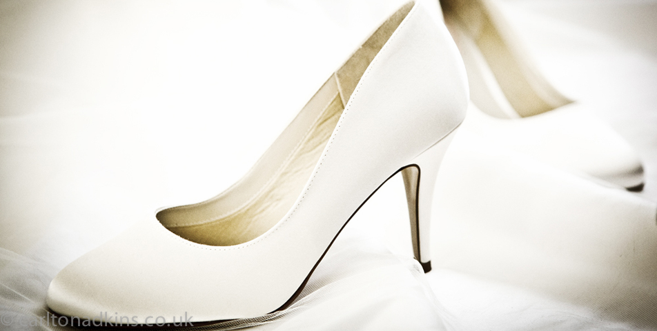 photography of brides wedding shoes in cheshire
