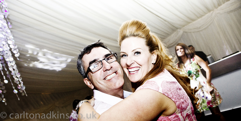 photography of the bride and grooms first dance in cheshire