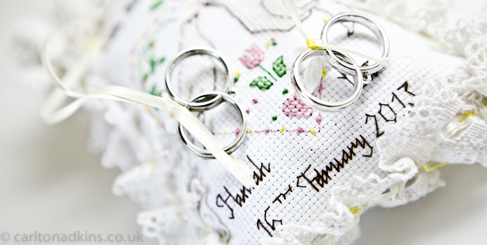 photography of the wedding rings in staffordshire