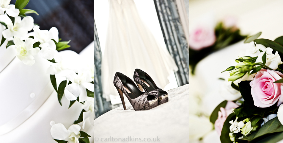 wedding photography of the bridal shoes