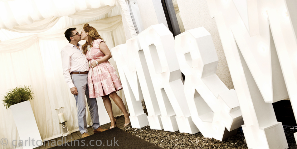 wedding photography of the bride and groom in cheshire