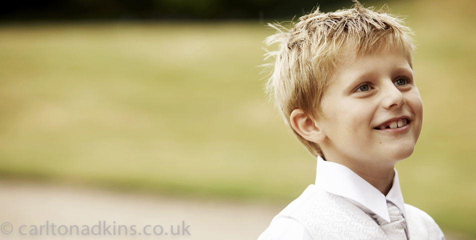 photography of the pageboy at Littlecote House Hotel Berkshire