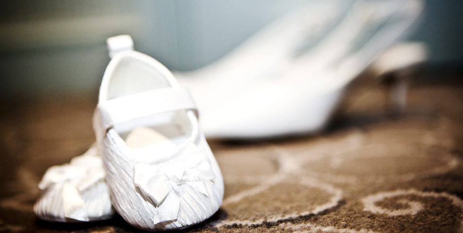 photography of the bridal shoes in Cheshire