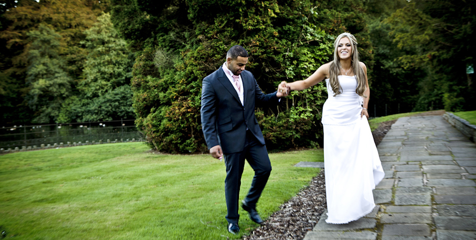 reportage wedding photography of the bride and groon at mottram hall cheshire