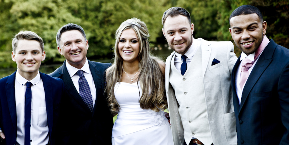 wedding photography of the groups at Mottram Hall cheshire