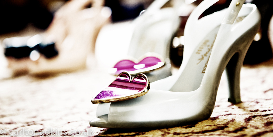 photography of the bridal shoes at macclesfield cheshire