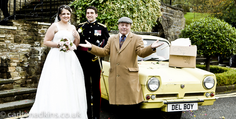 photography of the bride and groom after the wedding ceremony at shrigley hall cheshire