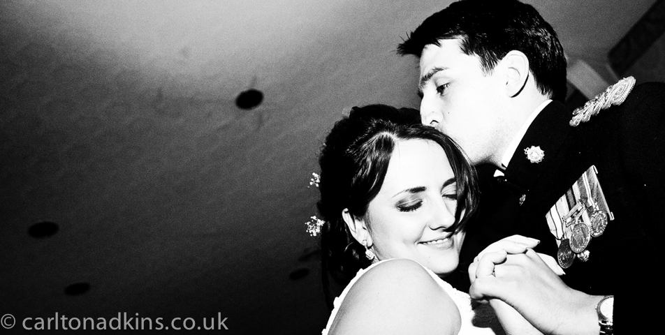 photography of the first dance at the cheshire wedding venue shrigley hall_