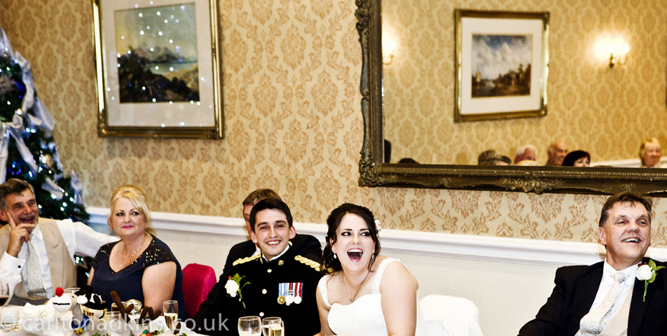 photography of the wedding breakfast at macclesfield cheshire