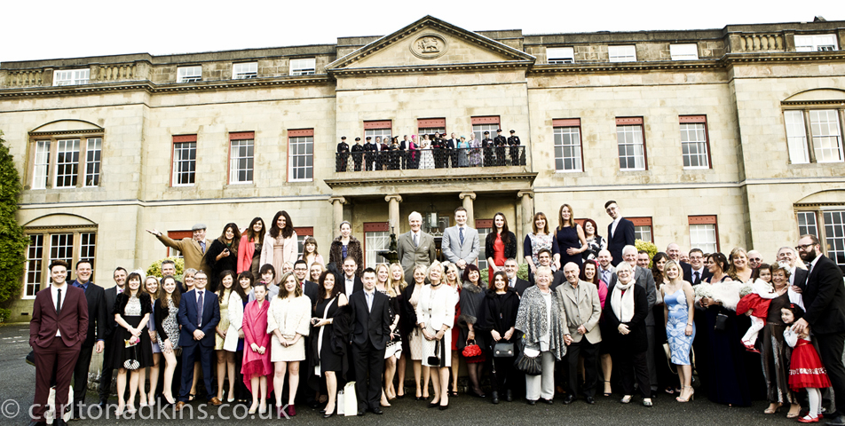 photography of the wedding party at shrigley hall cheshire
