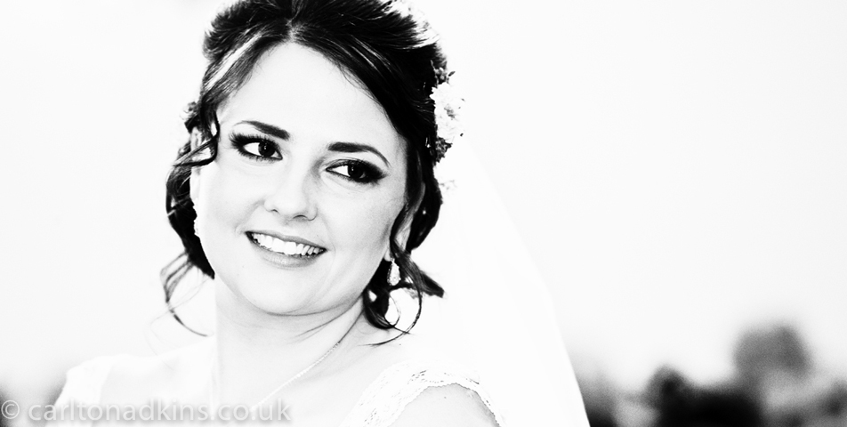 wedding photography of the bride at shrigley hall cheshire