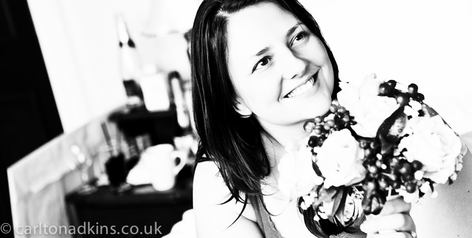 wedding photography of the bride at the cheshire wedding venue shrigley hall in macclesfield_