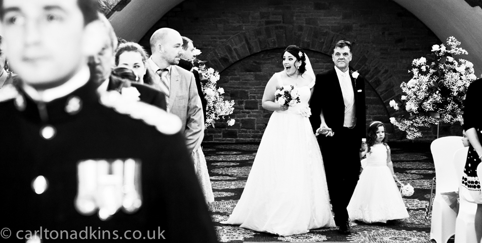 wedding photography of the civil wedding ceremony at shrigley hall macclesfield cheshire