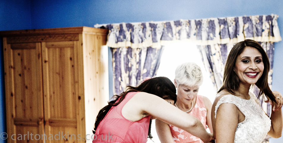 photography of the brides preparations before the wedding ceremony in cheshire