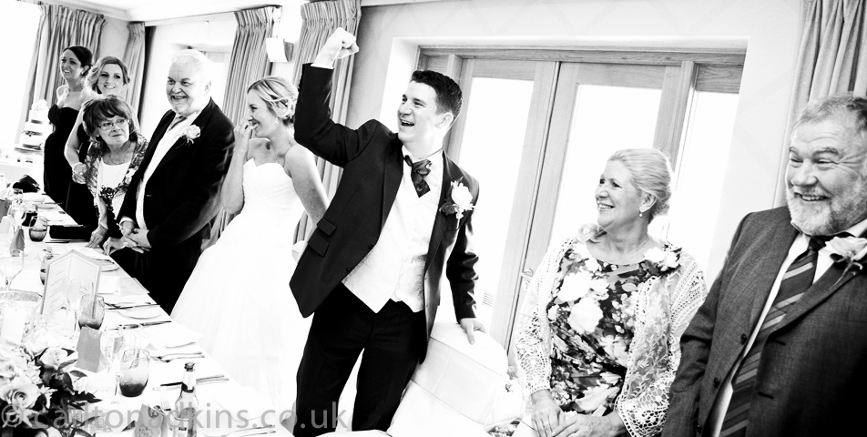 photography of the grooms wedding speech at the cottons hotel wilmslow cheshire