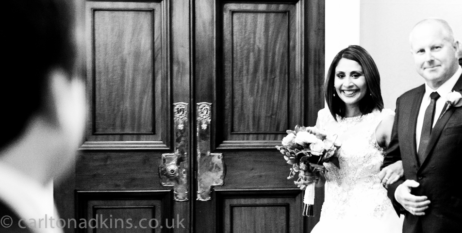 photography of the wedding ceremony in crewe cheshire