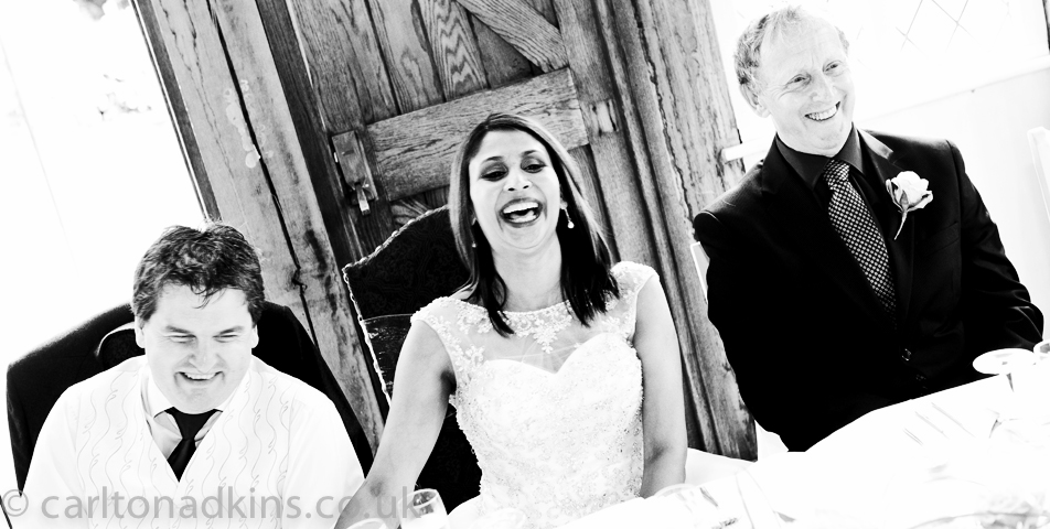 photography of the wedding speeches in cheshire