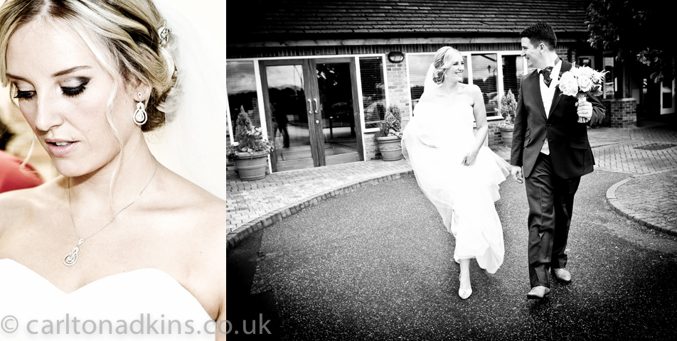 wedding photography of the bride and groom after the wedding ceremony at the cottons hotel wilmslow cheshire