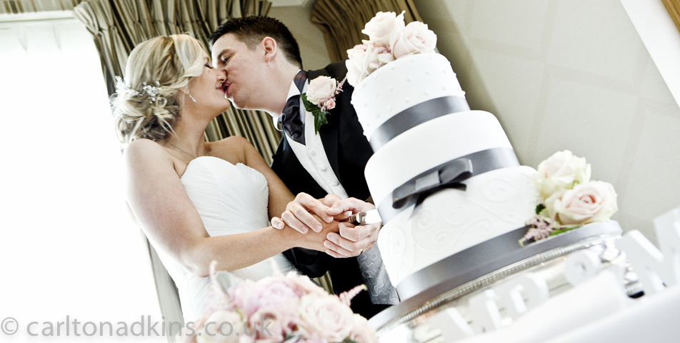 photography of the bride and groom at the cottons hotel wilmslow cheshire