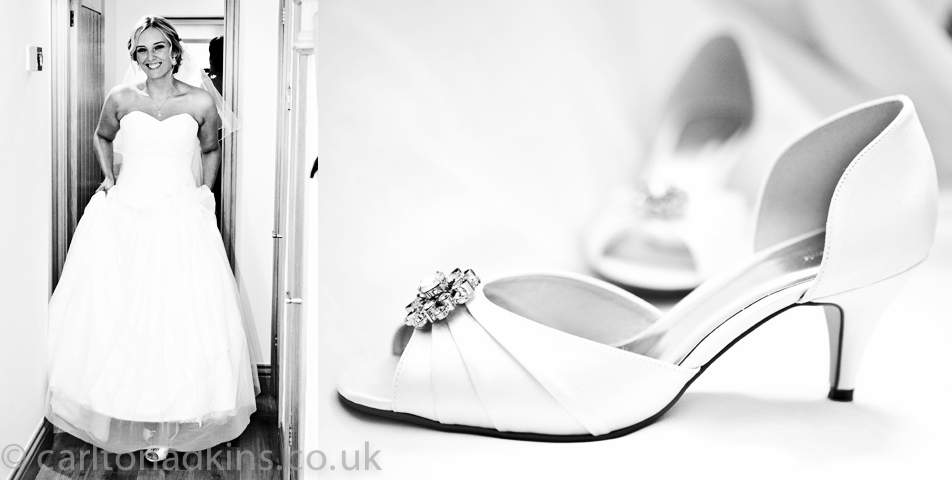 wedding photography of the brides shoes in wilmslow cheshire