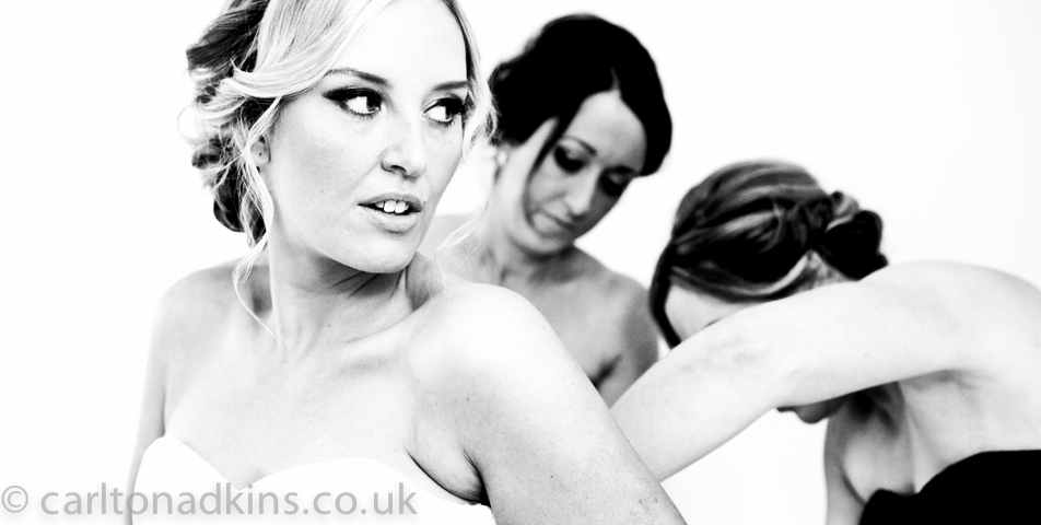 wedding photography of the bride before the ceremony in cheshire
