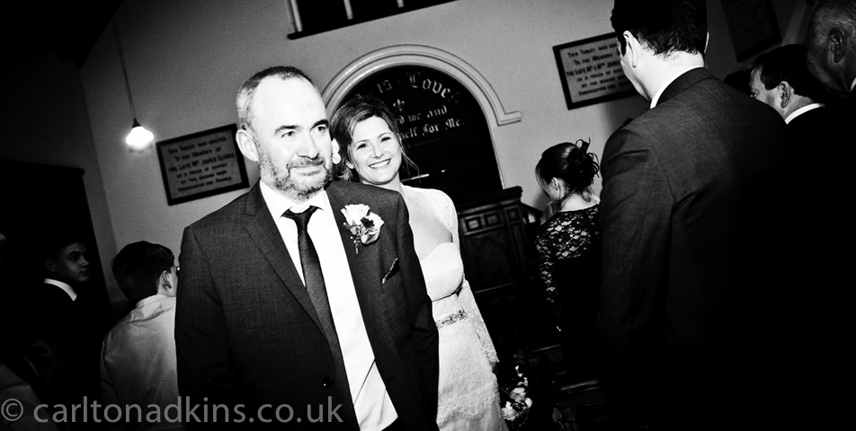 photography of the bride and groom after the wedding ceremony in knutsford cheshire