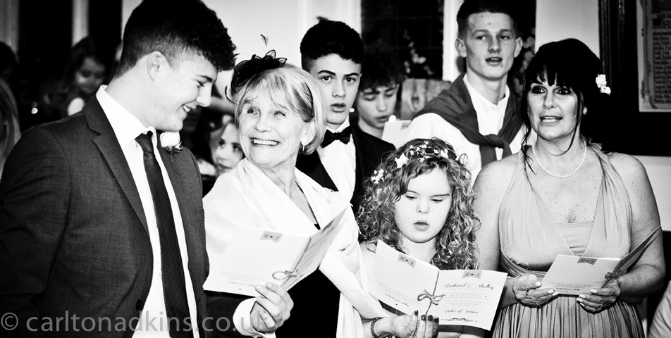 photography of the cheshire wedding ceremony