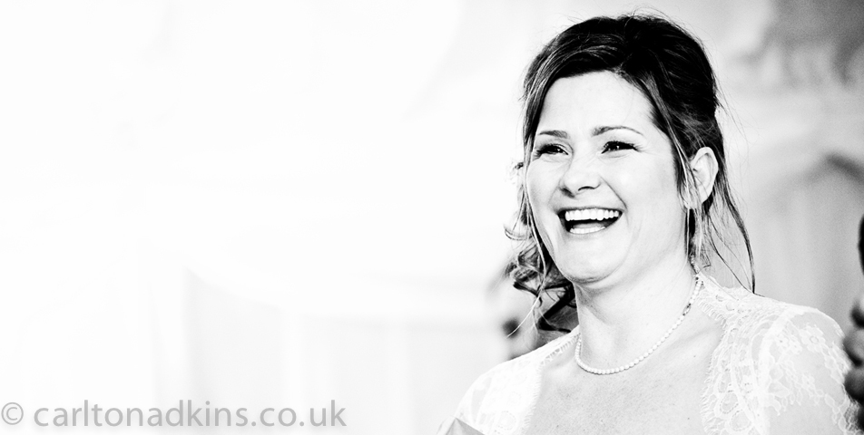 wedding photography of the bride after the wedding ceremony in knutsford cheshire