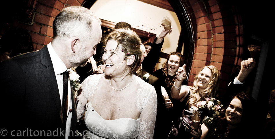wedding photography of the confetti in cheshire