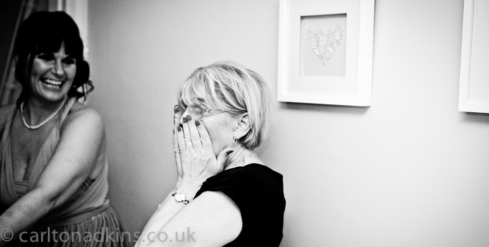 wedding photography of the mother of the bride in knutsford cheshire