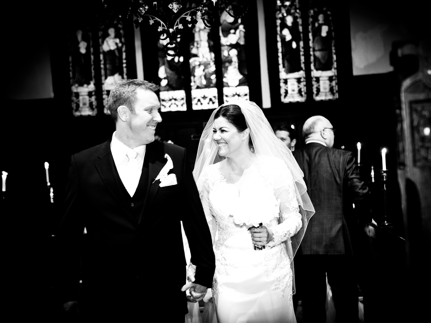 photography-of-the-bride-and-groom-after-the-wedding-ceremony at nunsmere hall