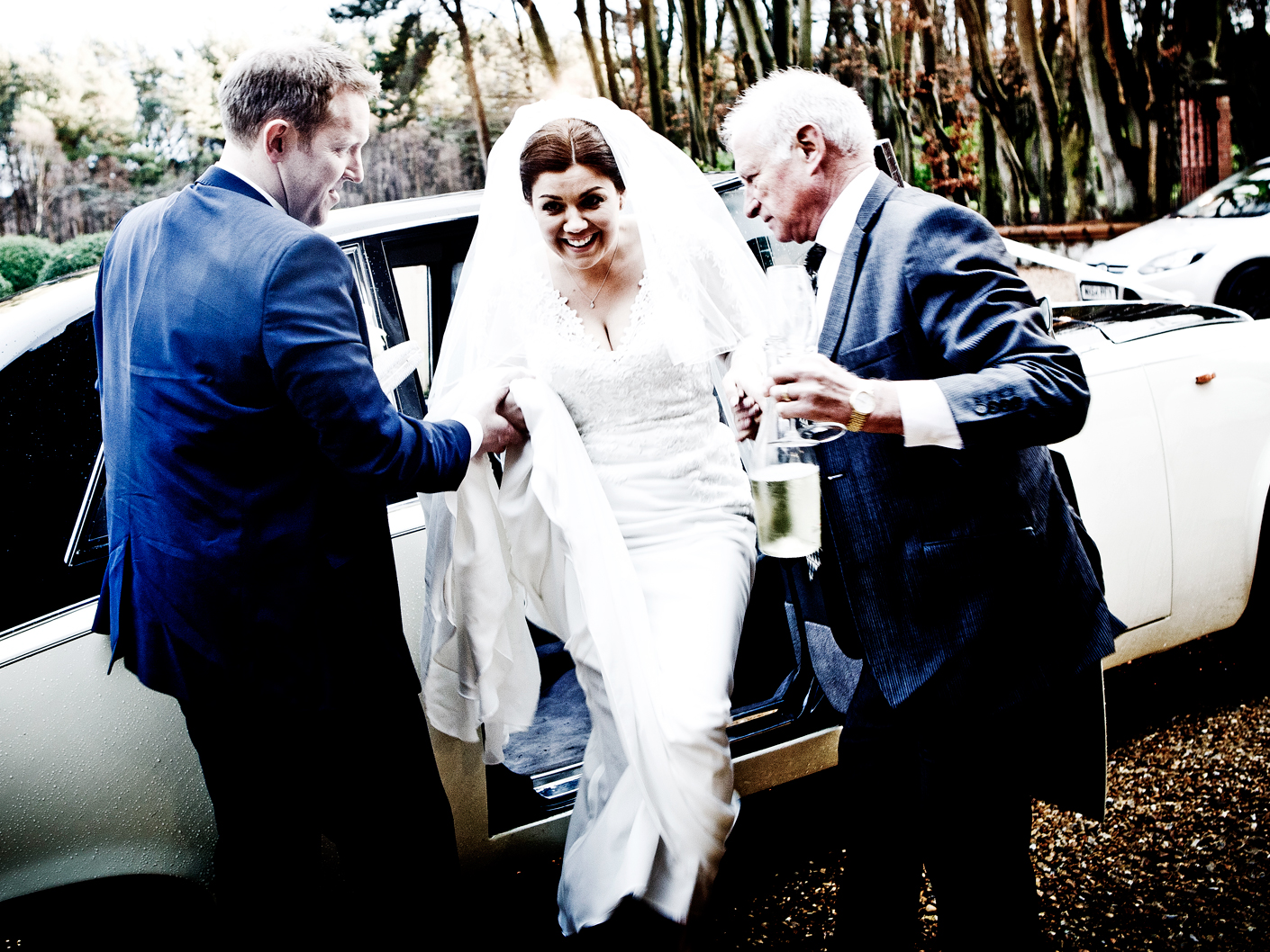 photography-of-the-bride-arriving-at-the-cheshire-wedding-venue-nunsmere-hall-hotel