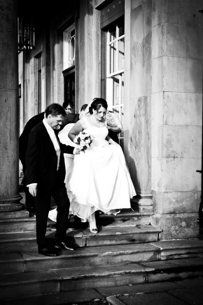 photography-of-the-bride-on-her-way-to-the-civil-wedding-ceremony-at-Shrigley-Hall-Macclesfield