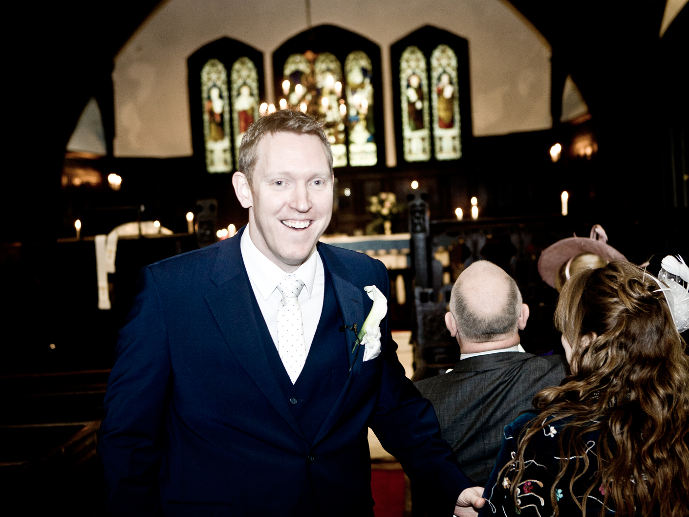 wedding-photography-of-the-groom-at-the-ceremony-in-cheshire