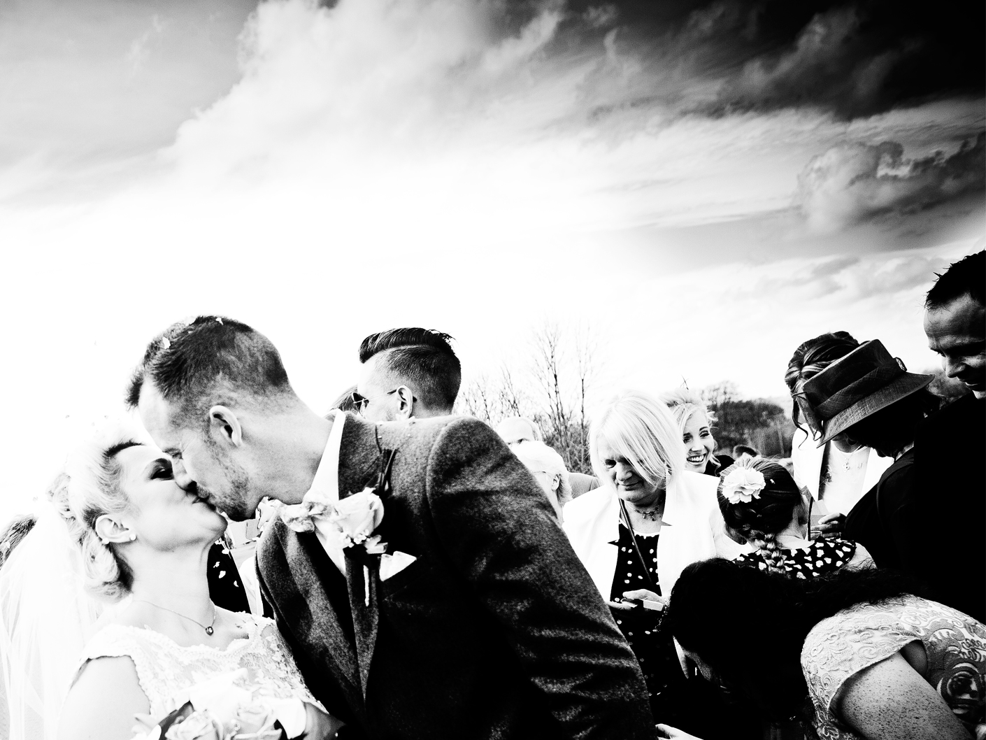 photography-of-the-bride-and-groom-outside-the-cheshire-wedding-venue-the-tytherington-club-macclesfield