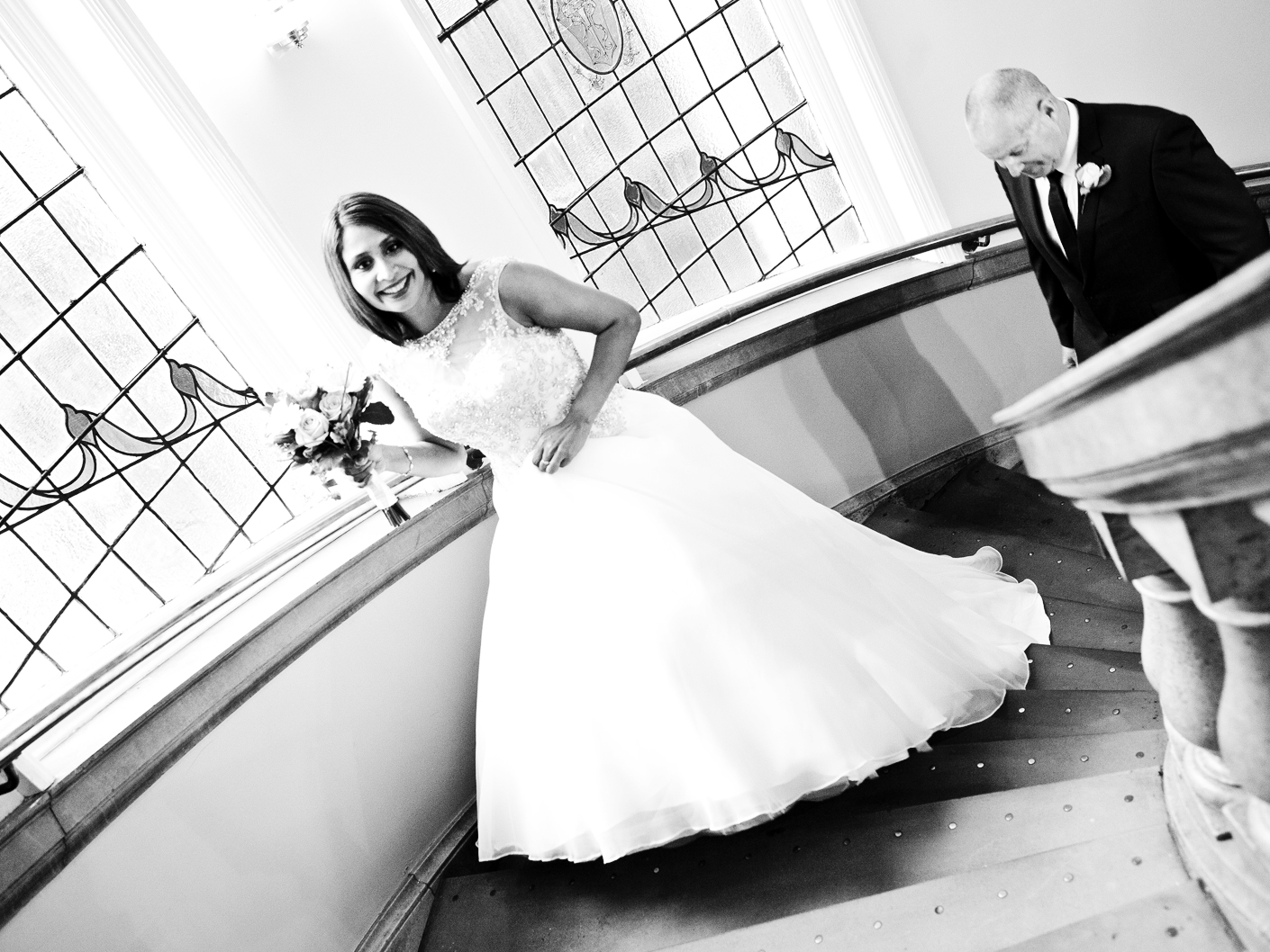 wedding-photography-of-the-bride-on-her-way-to-the-wedding-ceremony-in-crewe-cheshire