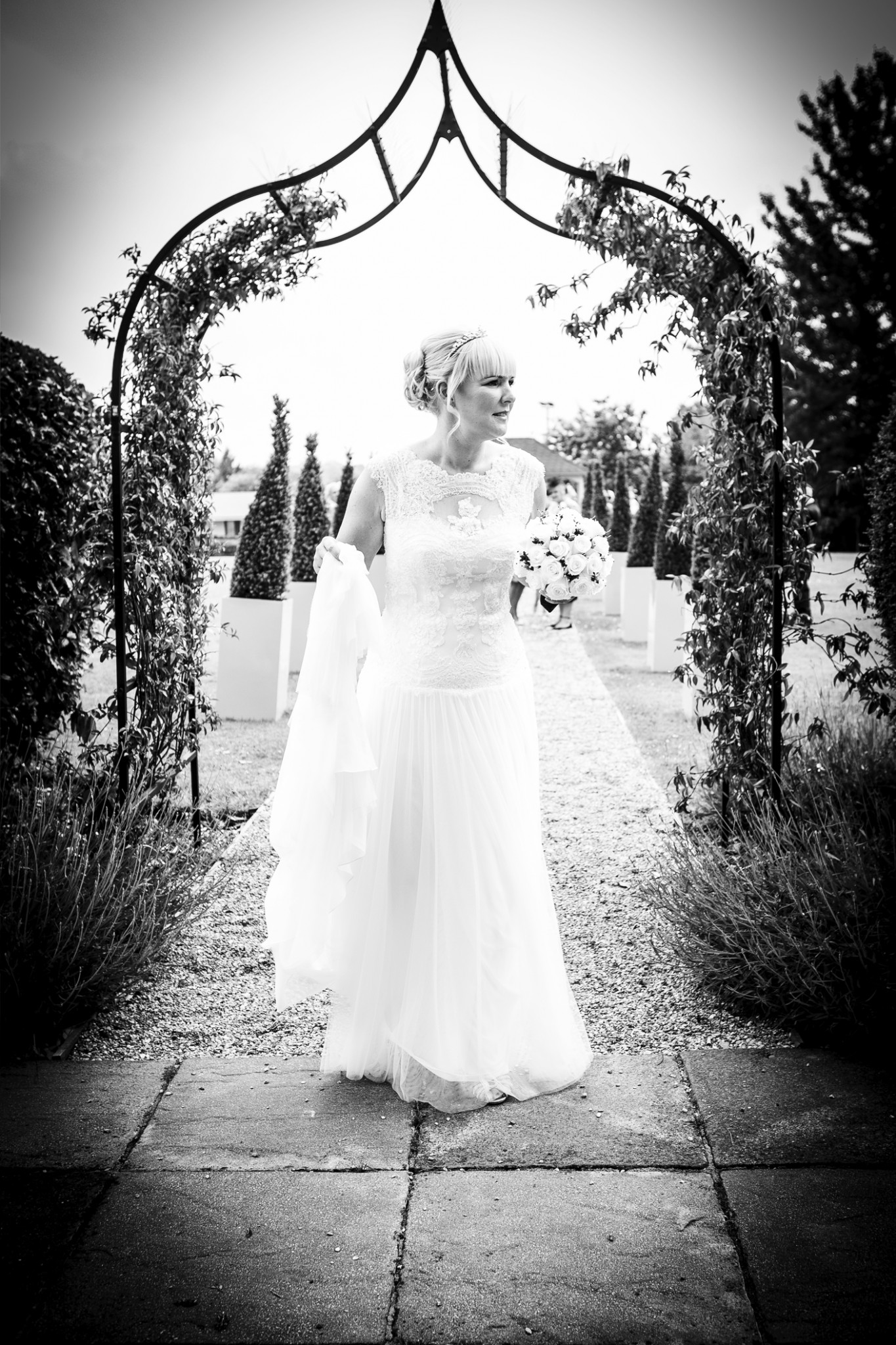 photography-of-the-bride-after-the-wedding-ceremony-at-cranage-hall-cheshire