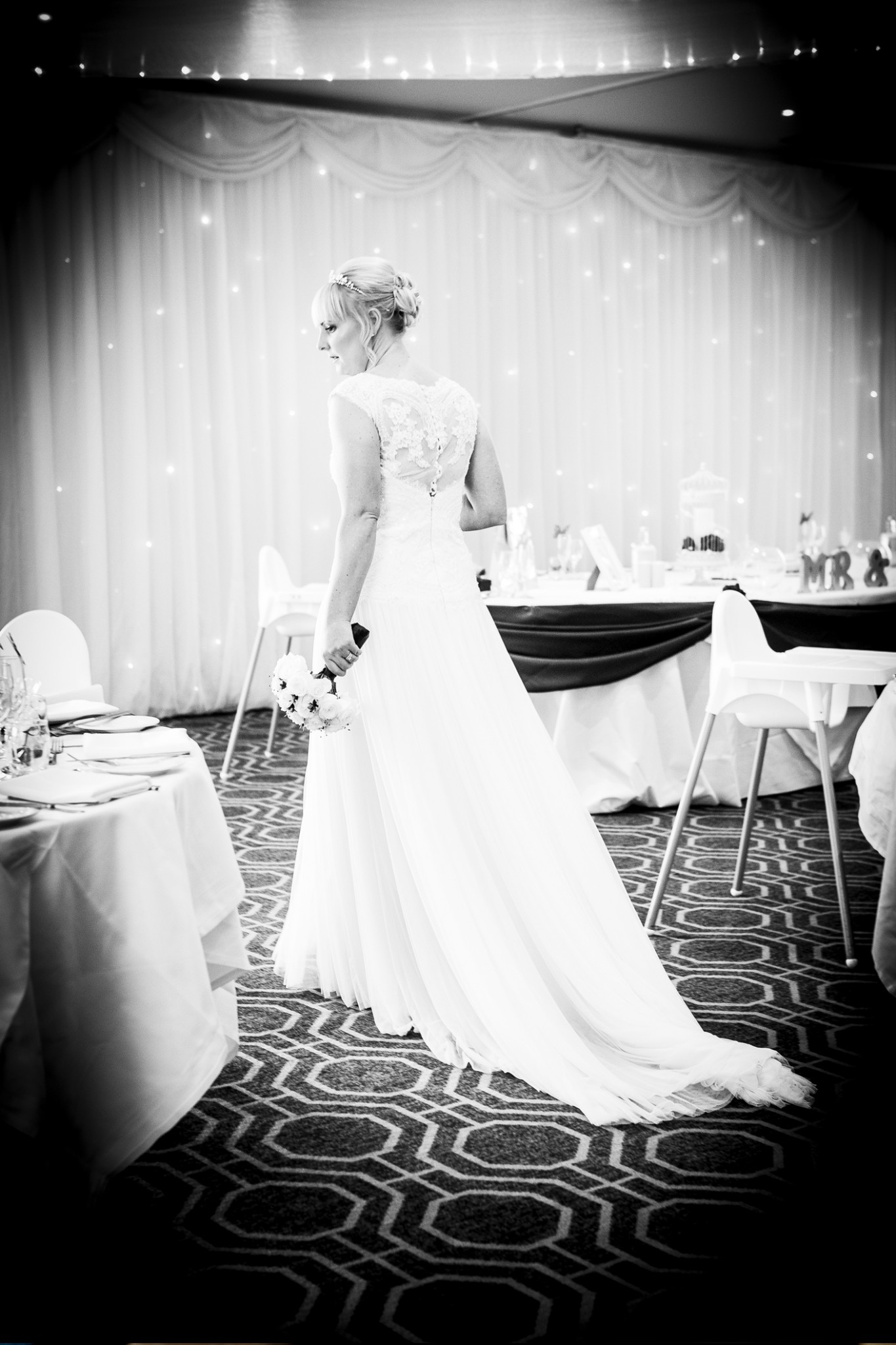 wedding-photography-of-the-bride-just-before-the-wedding-breakfast-at-cranage-hall