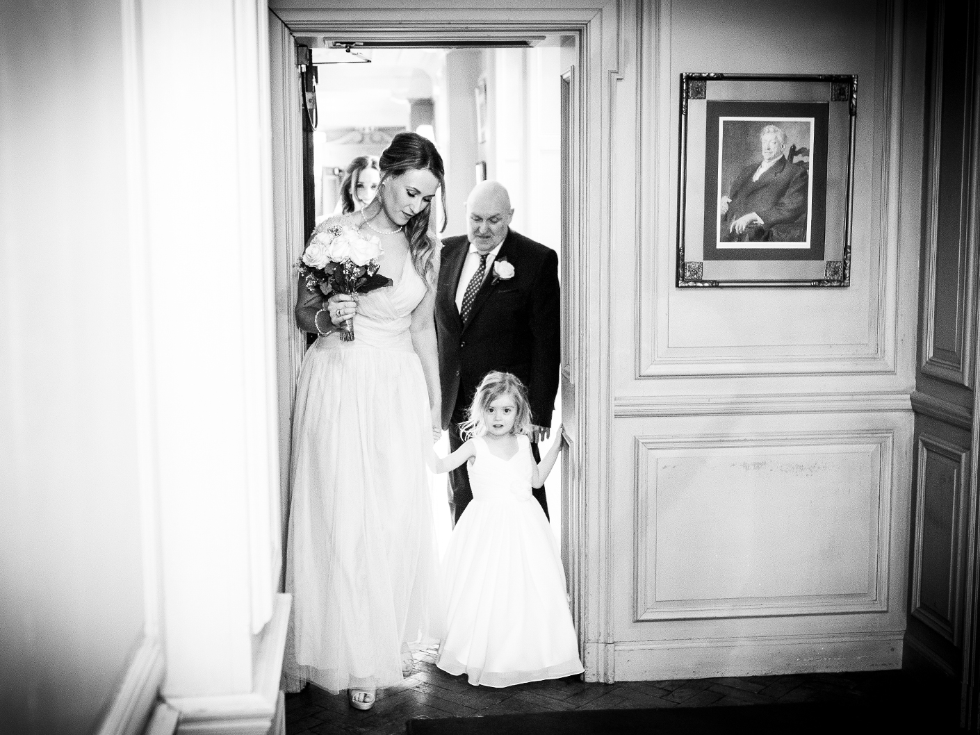 photography-of-the-bridesmaids-befor-the-thornton-manor-wedding-ceremony